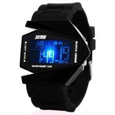 ราคา High Quality Hot Skmei 0817 Aircraft Shape Originality Design Fashion Led Jelly Color Waterproof Watch Black Skmei จีน