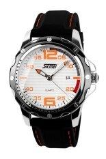 ซื้อ Skmei นาฬิกาข้อมือผู้ชาย สายเรซิน รุ่น 0992 สีขาว ส้ม ใน ปทุมธานี