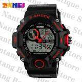 ราคา Skmei 1029คนนาฬิกากันน้ำกีฬา 50แผ่นนาฬิกาข้อมือคนสีแดง ออนไลน์