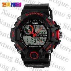 ราคา ราคาถูกที่สุด Skmei 1029คนนาฬิกากันน้ำกีฬา 50แผ่นนาฬิกาข้อมือคนสีแดง