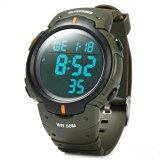 Skmei 1068 Military Army Led Watch Water Resistant Stopwatch Alarm Day Date Function Green เป็นต้นฉบับ