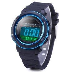 ขาย Skmei 1096 5Atm กันน้ำพลังงานแสงอาทิตย์ Led นาฬิกาสปอร์ตสีน้ำเงิน