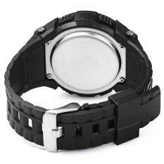 Skmei 1112 มัลติฟังก์ชั่ 3D นาฬิกาข้อมือเครื่องวัดระยะทางเดินตัวผู้สีดำ ถูก