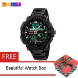 ขาย ซื้อ ออนไลน์ Skmei 1121 Fashion Sport Waterproof Men Quartz Digital Orange Watch Intl