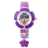 ขาย ซื้อ นาฬิกาข้อมือ 1144 เด็กหนุ่มเด็กสาวชายนาฬิกาดิจิตอลนำดอกไม้แฟชั่นนาฬิกาข้อมือซิลิโคนสีม่วง สมุทรปราการ