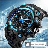 ซื้อ Skmei 1155B จัดส่งในไทย ของแท้ 100 พร้อมกล่องครบเซ็ท นาฬิกาข้อมือชาย ดิจิตอล มัลติฟังชั่น สายเรซิน รุ่น Sk1155B Blue ถูก