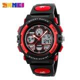 ขาย Skmei 1163 Children Watches Kids Sports Military Waterproof Wristwatches Dual Display Led Digital Quartz Watch Red Intl ออนไลน์ ใน จีน