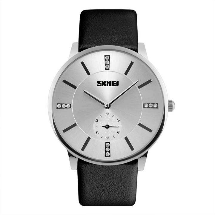 Skmei 9075 Fahsion Womens Leather Watch Quartz Watch Waterproof Source · SKMEI 1168 Men s Ultra thin Fashion Business Leather Strap Quartz Watch silver ...