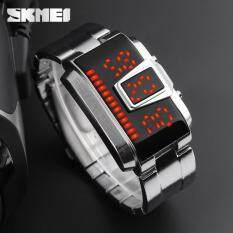 ซื้อ Skmei 1179 Fashion Creative Led Sports Watches Men Quartz 5Atm Waterproof Watch Digital Wristwatches ถูก