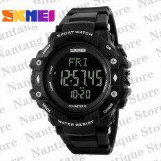 ซื้อ Skmei 1180 มัลติฟังก์ชั่นเครื่องกีฬาเครื่องวัดระยะทางเดินนาฬิกาอัตราหัวใจ สีดำ ออนไลน์ ถูก