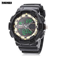 ขาย ซื้อ Skmei 1189 Sports Watch Dual Movt Digital Quartz Display Wristwatch Golden Intl ใน จีน