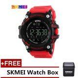ซื้อ Skmei 1227 Men S Sports Wristwatches Smart Pedometer Bluetooth Watch Men S Sports Waterproof Digital Watch Red Free Skmei Watch Box Intl Skmei ออนไลน์