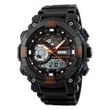 ราคา Skmei 1228 นาฬิกาหลายฟังก์ชั่นดิจิตอล Quartz 50M N กันน้ำ Chronograph Led นาฬิกา Orange เป็นต้นฉบับ Skmei