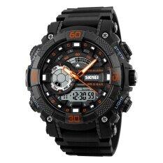 ขาย Skmei 1228 นาฬิกาหลายฟังก์ชั่นดิจิตอล Quartz 50M N กันน้ำ Chronograph Led นาฬิกา Orange ออนไลน์ จีน