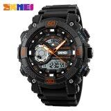 ราคา Skmei 1228 Men Sports Watches Fashion Dial Outdoor Electronic Quartz Digital Watch 50M Waterproof Wristwatches Orange Intl Skmei ออนไลน์