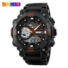 ราคา Skmei 1228 Men Sports Watches Fashion Dial Outdoor Electronic Quartz Digital Watch 50M Waterproof Wristwatches Orange Intl Skmei ใหม่