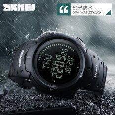 ขาย ซื้อ Skmei 1231 นาฬิกาอิเล็กทรอนืกซ์ จอแสดงผล Led สำหรับผู้ชาย เพื่อการเล่นกีฬากลางแจ้ง มีเข็มทิศสำหรับเดินเขา สีดำ ใน จีน