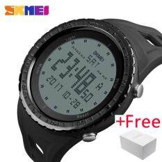 ราคา Skmei 1246 Men Sports Watches Countdown Chrono Double Time El Light Digital Wristwatches 50M Water Resistant Relogio Masculino Skmei จีน
