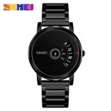 ซื้อ Skmei 1260 Men S Quartz Watch Waterproof Steel Watch Male Clock Black Intl ใน จีน