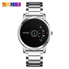 โปรโมชั่น Skmei 1260 Men S Quartz Watch Waterproof Steel Watch Male Clock Silver Intl Skmei