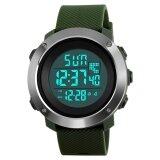 ขาย Skmei 1268 Men S Digital Sports Pu Resin Band Wrist Watch Green Intl ใน ฮ่องกง