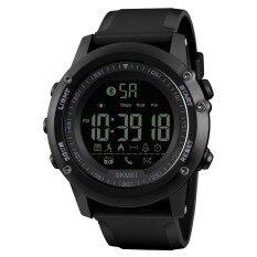ความคิดเห็น Skmei 1321 Men S Bluetooth Smart Watch Waterproof Digital Wristwatch With Pedometer Remote Camera Calorie Counter Black Intl