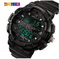 ราคา Skmei นาฬิกาบุรุษผู้ชายนาฬิกากันน้ำสามเวลามัลติฟังก์ชั่ 50 เมตรกันน้ำ Anti Knock นาฬิกาแฟชั่นนาฬิกาแฟชั่นนาฬิกากีฬา 1189 Intl Skmei