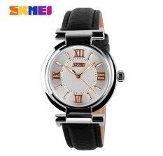 ราคา Skmei 9075 หนังผู้หญิงนาฬิกาแฟชั่นสตรีนาฬิกาควอตซ์นาฬิกานาฬิกาหนัง นานาชาติ Skmei