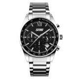 ราคา Skmei 9096 สแตนเลสกันน้ำสีผลึกนาฬิกาข้อมือผู้ชาย ใหม่ ถูก
