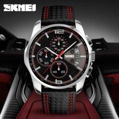ราคา ราคาถูกที่สุด นาฬิกาข้อมือ Skmei 9106 นาฬิกาแฟชั่นสำหรับผู้ชาย ธุรกิจ หนังสัตว์ ปฏิทิน นาฬิกาจับเวลา นาฬิกากันน้ำ Intl