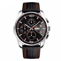 ขาย Skmei 9106คนกีฬานาฬิกาควอทซ์สายหนังนาฬิกาวันที่ 24Nนาฬิกาข้อมือกันน้ำนั้น Skmei ใน Thailand