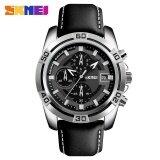 โปรโมชั่น Skmei 9156 Men S Six Pin Watch Waterproof Racing Quartz Watch Silver Intl ใน Thailand