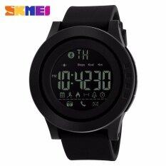 ขาย Skmei ยี่ห้อชาย Smartwatch บลูทู ธ แคลอรี่ Pedometer หลายฟังก์ชั่นกีฬานาฬิกาแบรนด์เนมมือทนดิจิตอล 1255 สนามบินนานาชาติ ใน จีน