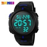 ราคา Skmei Brand Mens Sports Watches Dive 50M Digital Led Military Watch Fashion Casual Military Outdoor Wristwatches 1068 Blue Intl ถูก