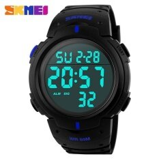 ส่วนลด Skmei Brand Mens Sports Watches Dive 50M Digital Led Military Watch Fashion Casual Military Outdoor Wristwatches 1068 Blue Intl จีน