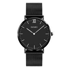 ราคา 1181 Skmei แบรนด์นาฬิกาสุดหรู 30 เมตรกันน้ำเป็นพิเศษบางนาฬิกาชายเหล็กสายสบาย ๆ นาฬิกาผู้ชายกีฬานาฬิกาข้อมือควอทซ์ นานาชาติ เป็นต้นฉบับ Skmei