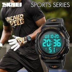 ขาย Skmei แบรนด์นาฬิกาผู้ชายกลางแจ้งแฟชั่นดิจิตอลนาฬิกามัลติฟังก์ชั่น 50 เมตรกันน้ำนาฬิกาข้อมือชาย Relogio Masculino 1258 นานาชาติ จีน