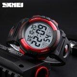 ซื้อ นาฬิกาแบรนด์ Skmei นาฬิกาผู้ชายแฟชั่นกลางแจ้งนาฬิกาดิจิตอลนาฬิกามัลติฟังก์ชั่ 50 เมตรนาฬิกาข้อมือ Waterproof Man Relogio Masculino 1258 ถูก ใน จีน