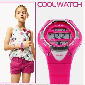 1077 นาฬิกา SKMEI แบรนด์นาฬิกากีฬาสำหรับเด็กเด็กหญิง LED ดิจิตอลปลุกนาฬิกาจับเวลากันน้ำนาฬิกาข้อมือเด็กแต่งตัว - นานาชาติ