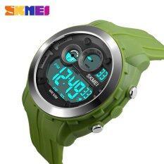 ซื้อ Skmei Casual Men Digital Wristwatches Alarm Black Light Chrono Pu Strap Sports Watches 1234 Intl ถูก
