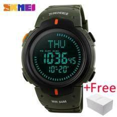 โปรโมชั่น Skmei Compass Sports Watch นาฬิกาข้อมือ Es Men Countdown World Time Wristwatch นาฬิกาข้อมือ Es Digital Watch นาฬิกาข้อมือ 1231