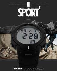 โปรโมชั่น ลดราคาผู้ชายทหารกีฬานาฬิกาแบรนด์แฟชั่นนาฬิกา Led นาฬิกาโครโน 50 ม นาฬิกาข้อมือแบบกันน้ำ S Sport ถูก