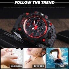 ราคา Skmei กีฬานาฬิกาแฟชั่นผู้ชายนาฬิกาควอตซ์แบบคู่นาฬิกา N 50 เมตรกันน้ำนาฬิกาข้อมือ Relogio Masculino 1155B เป็นต้นฉบับ