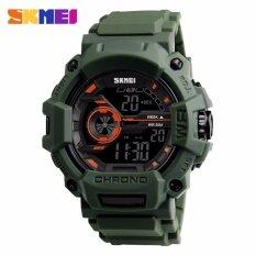 ซื้อ แฟชั่นผู้ชาย 50 เมตรกันน้ำผู้ชายนาฬิกาแฟชั่นกลางแจ้งนาฬิกาข้อมือผู้ชาย 1233 กองทัพสีเขียว นานาชาติ