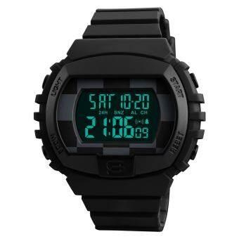 นาฬิกาแบรนด์นาฬิกานาฬิกาข้อมือชายกีฬานาฬิกาหรูดำสำหรับผู้ชายสบายๆมัลติฟังก์ชั่นดิจิตอลนาฬิกานำ Horloges Mannen 1304 - นานาชาติ