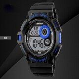 แบรนด์นาฬิกาแฟชั่นสบาย ๆ Led แสงสีดำนาฬิกากระแทกดิจิตอลนาฬิกาข้อมือบุรุษกีฬา Watches1222 นานาชาติ จีน