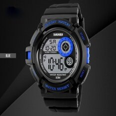 ราคา แบรนด์นาฬิกาแฟชั่นสบาย ๆ Led แสงสีดำนาฬิกากระแทกดิจิตอลนาฬิกาข้อมือบุรุษกีฬา Watches1222 นานาชาติ Bounabay ออนไลน์