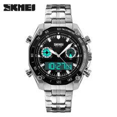 ซื้อ นาฬิกาข้อมือแบรนด์หรูผู้ชายนาฬิกาข้อมือสายคล้องคอคริสตัลแบบแอนะล็อกดิจิตอลนาฬิกากองทัพทหารกีฬานาฬิกา สีดำ ใหม่