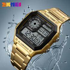 ราคา Skmei Men Outdoor Sports Watches Count Down Waterproof Watch Stainless Steel Fashion Digital Business Wristwatches Male Clock 1335 ใหม่ล่าสุด