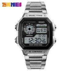 Skmei Men Sports Watches Count Down Waterproof Watch Stainless Steel Fashion Digital Wristwatches Male Clock 1335 Intl Thailand